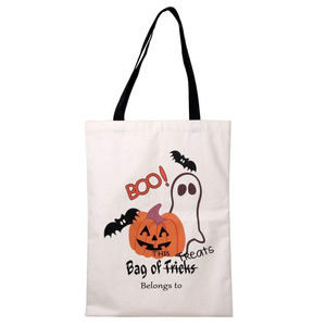 Halloween Trick or Treat tote bag canvas